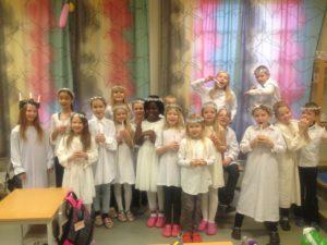 Lucia-barn friskolen